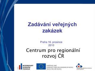 Centrum pro regionální rozvoj ČR