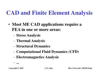 CAD and Finite Element Analysis