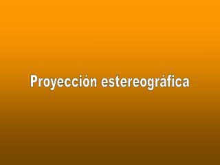 Proyección estereográfica
