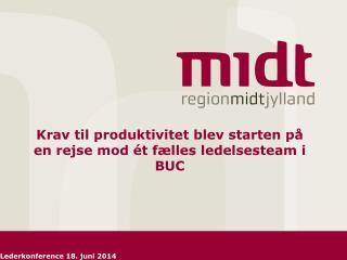 Krav til produktivitet blev starten på en rejse mod ét fælles ledelsesteam i BUC