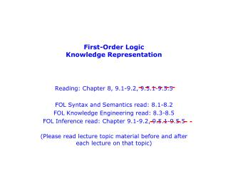 First-Order Logic Knowledge Representation
