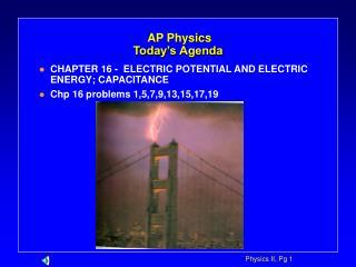 AP Physics Today's Agenda