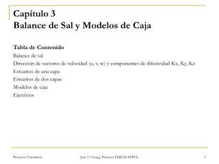 Capítulo 3 Balance de Sal y Modelos de Caja