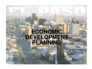 ECONOMIC DEVELOPMENT PLANNING