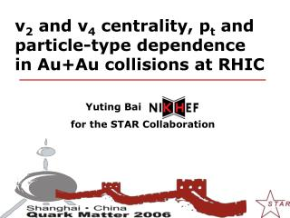 v 2  and v 4  centrality, p t  and  particle-type dependence      in Au+Au collisions at RHIC
