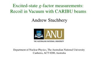 Excited-state  g -factor measurements: Recoil in Vacuum with CARIBU beams