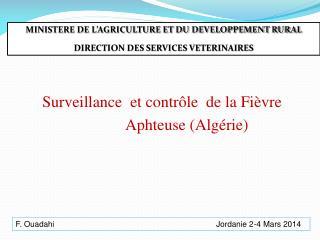 Surveillance  et contr�le  de la Fi�vre
