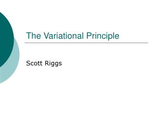 The Variational Principle