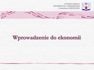 Wprowadzenie do ekonomii