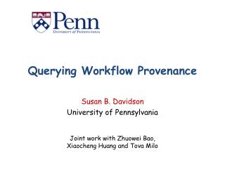 Querying Workflow Provenance