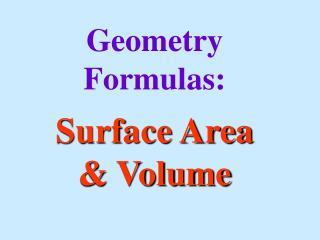 Geometry Formulas: