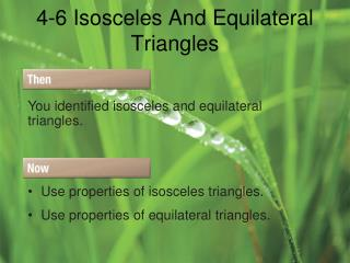 4-6 Isosceles And Equilateral Triangles