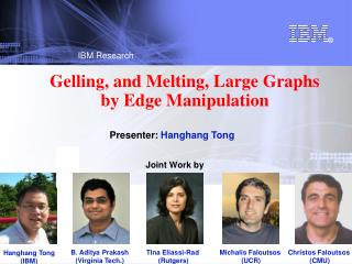Gelling, and Melting, Large Graphs  by Edge Manipulation