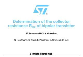 Determination of the collector resistance R CX  of bipolar transistor