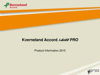 Kverneland Accord  i-drill PRO