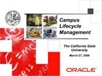 Campus Lifecycle Management