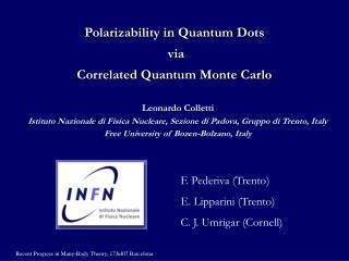Polarizability in Quantum Dots  via  Correlated Quantum Monte Carlo