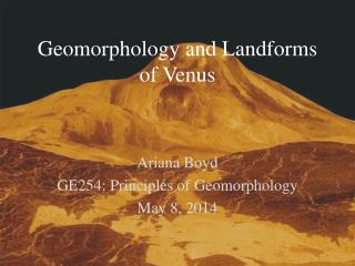 Geomorphology and Landforms of Venus