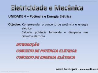 Eletricidade e Mecânica