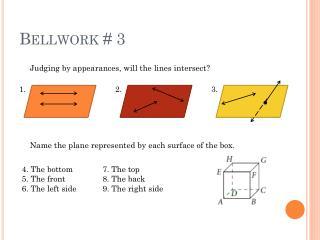 Bellwork # 3