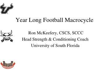 Year Long Football Macrocycle