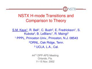 NSTX H-mode Transitions and Comparison to Theory
