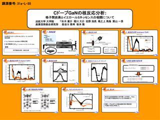 C ドープ GaN の核反応分析 : 格子間炭素とイエロールミネッセンスの相関について