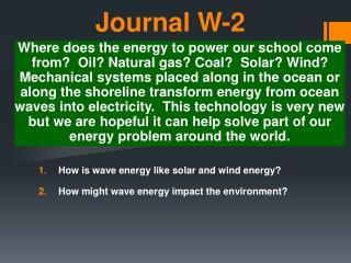 Journal W-2