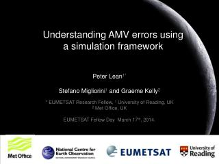 Understanding AMV errors using a simulation framework