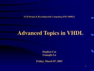 VHDL Presentation