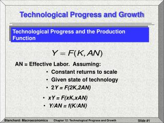 Technological Progress and Growth
