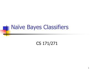 Naïve Bayes Classifiers