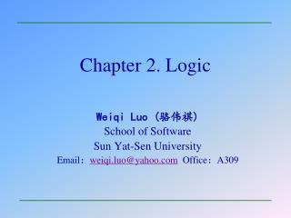 Chapter 2. Logic