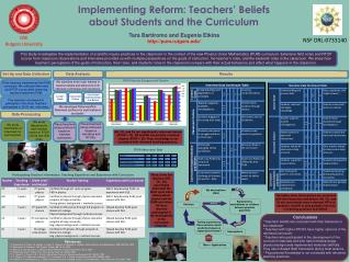 Implementing Reform: Teachers  Beliefs about Students and the Curriculum