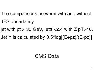 The comparisons between with and without JES uncertainty.