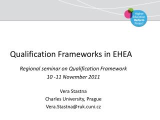 Qualification Frameworks in EHEA