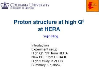 Proton structure at high Q 2  at HERA