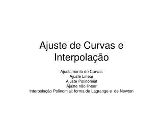 Ajuste de Curvas e Interpolação