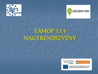 TÁMOP 2.2.4 Nagyrendezvény