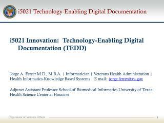 i5021 Technology-Enabling Digital Documentation