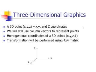 Three-Dimensional Graphics