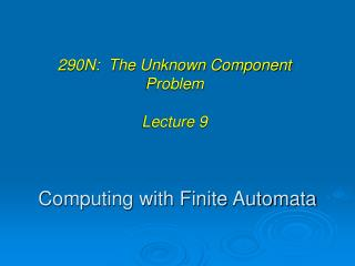 Computing with Finite Automata