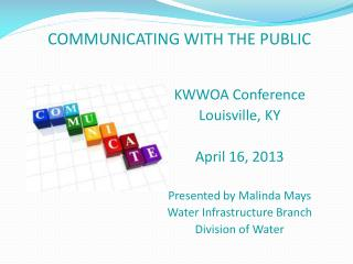 KWWOA Conference Louisville, KY April 16, 2013 Presented by Malinda Mays