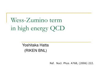 Wess-Zumino term  in high energy QCD