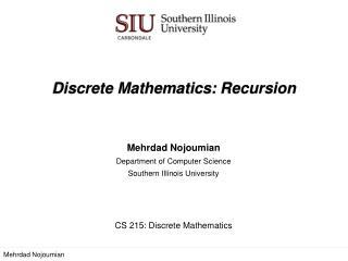 Discrete Mathematics:  Recursion