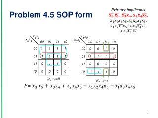 Problem 4.5 SOP form