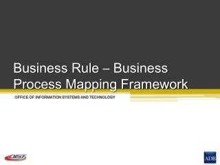 Business Rule – Business Process Mapping Framework