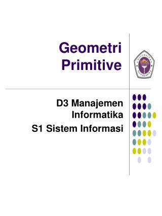 Geometri Primitive