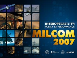 Future Command and Control   The Interoperability Imperative 29 Oct 07