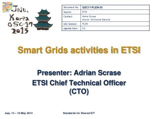 Smart Grids activities in ETSI